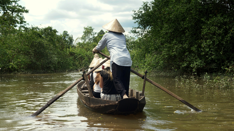 Mekong Delta - eine Tagestour mit Booten, Rädern und Popreis Mekong