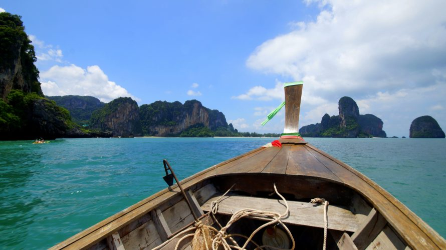 Krabi: Karstfelsen, Railay Beach und Regen