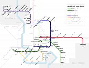 Plan Bahnnetz Bangkok