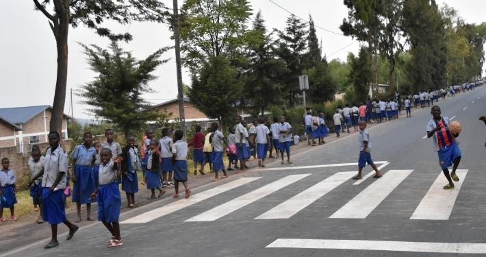 Straße in Kigali
