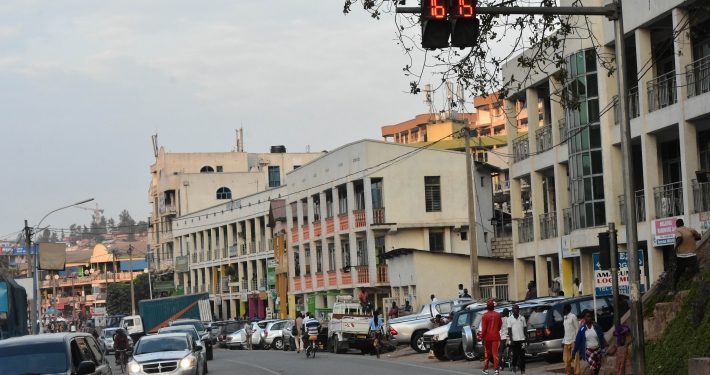 Straße in Ruanda