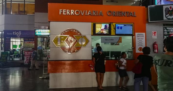 Ticketschalter für den Expreso Oriental