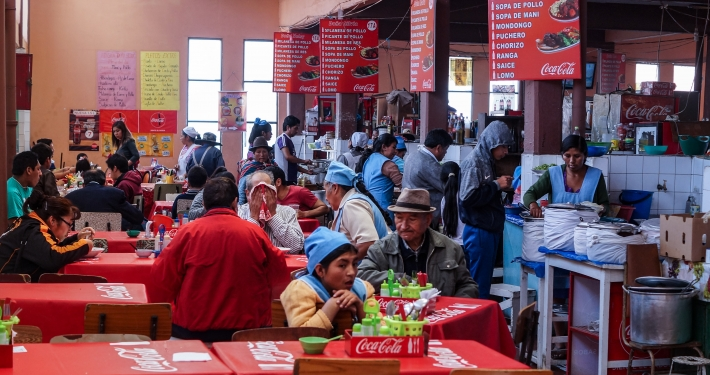 Food Court im Markt von Sucre