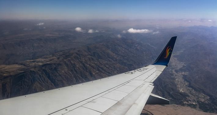 Flug über die Anden
