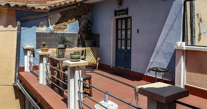 Unser Zimmer mit Balkon