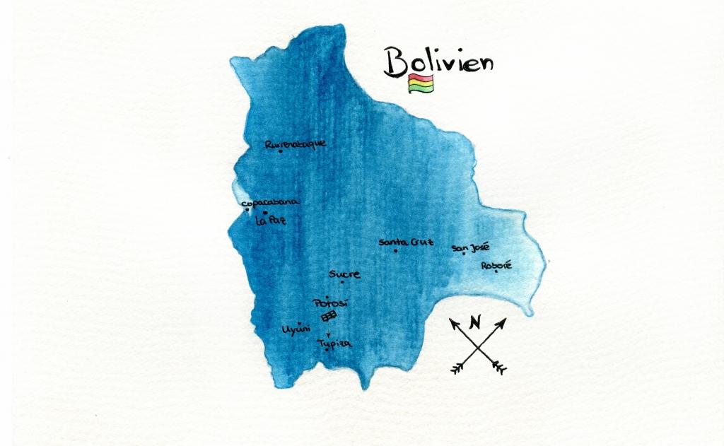 Karte Tupiza