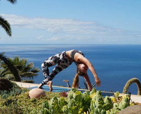 Schulteröffner im Yoga Urlaub