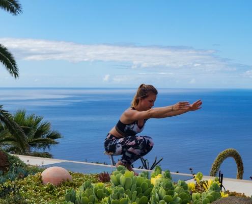 Balance im Yoga Urlaub