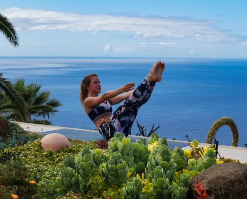 Boot im Yoga Urlaub