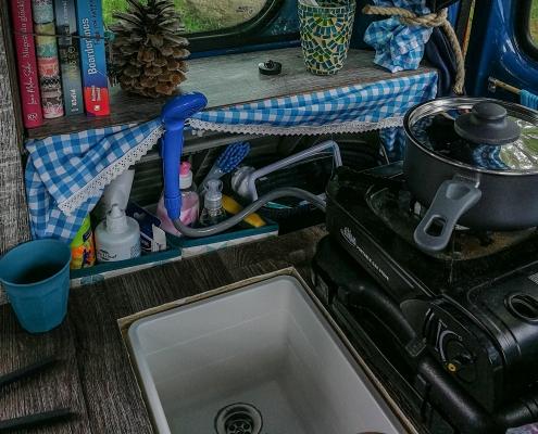 Waschbecken im Vanausbau