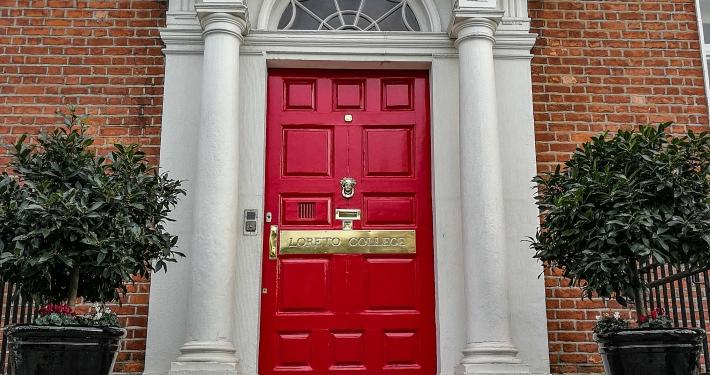 Bunte Türen in Dublin