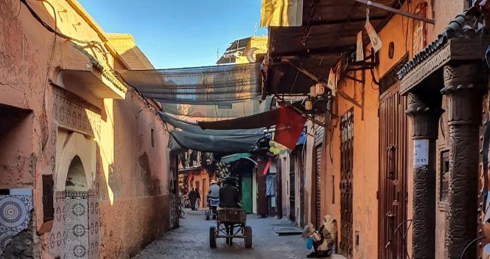 Eselkarren in Marrakesch