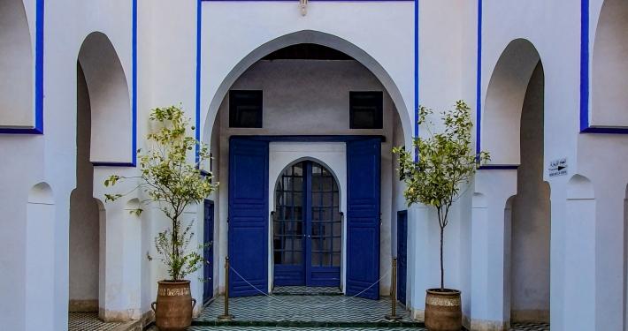 Innenhof im Bahia Palast Marrakesch