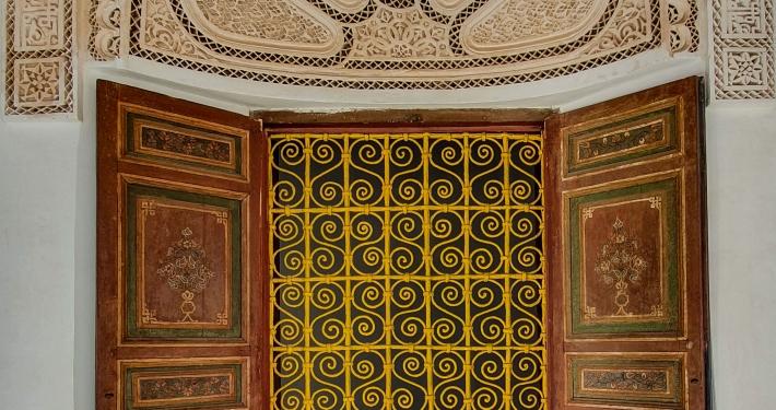 Verzierungen im Bahia Palast Marrakesch
