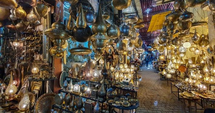 Orientalische Lampen in Marrakesch