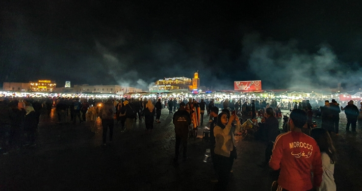 Djemaa el-Fna in Marrakesch am Abend