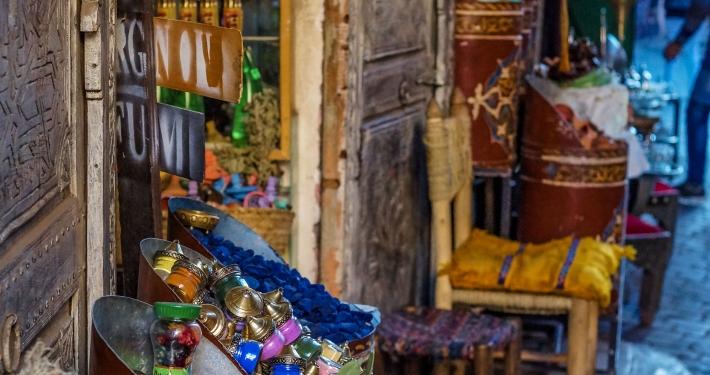 Gewürzverkäufer in Marrakesch