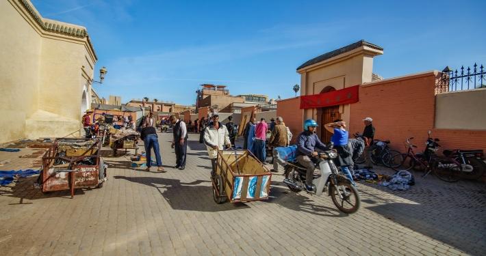 Straßen in Marrakesch