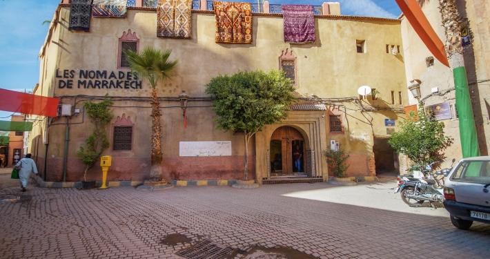 Teppiche in den Straßen in Marrakesch
