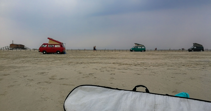 Wellenreiten in St. Peter Ording
