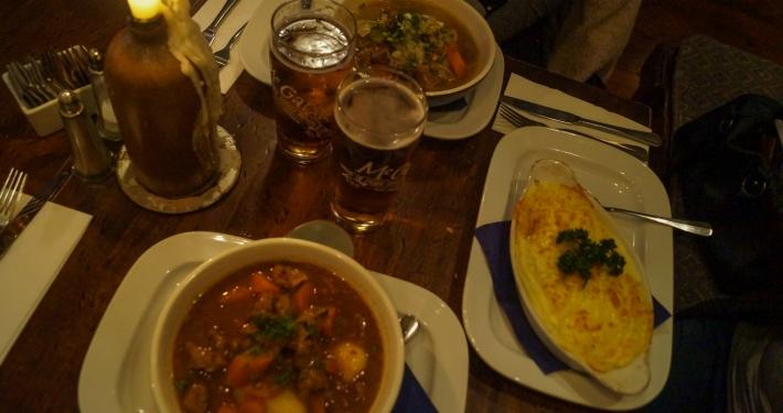 Irisches Essen im Pub in Kenmare