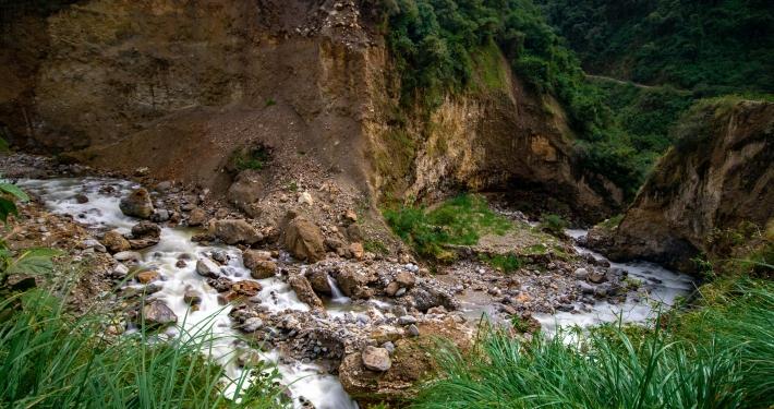 Lluskamayu Fluss Salkantay Trek
