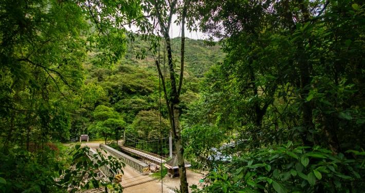 Brücke zum Machu Picchu