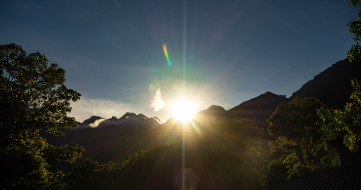 Sonnenaufgang am Machu Picchu