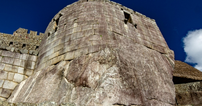 Bauwerk der Inka in Machu Picchu