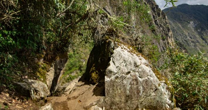 Weg zur Inka Brücke bei Machu Picchu