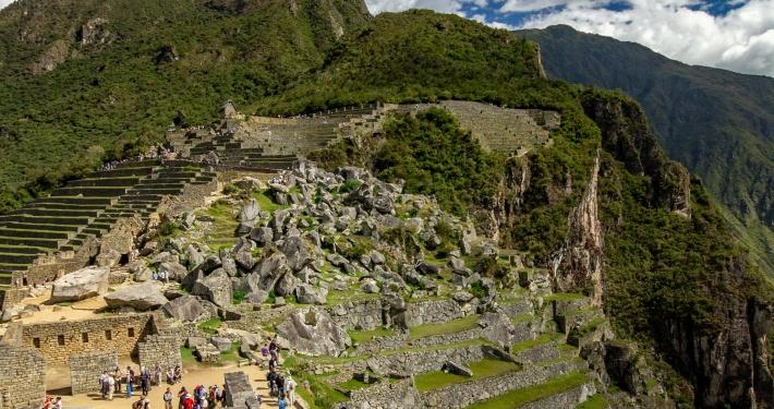 Terrassen für Landwirtschaft in Machu Picchu