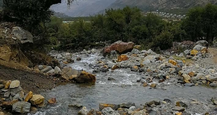 Wasserdurchquerung Salkantay Trek