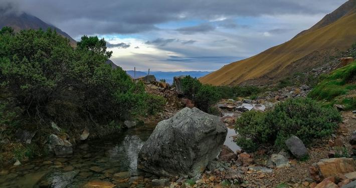 Aussicht von der Humantay Lagoon