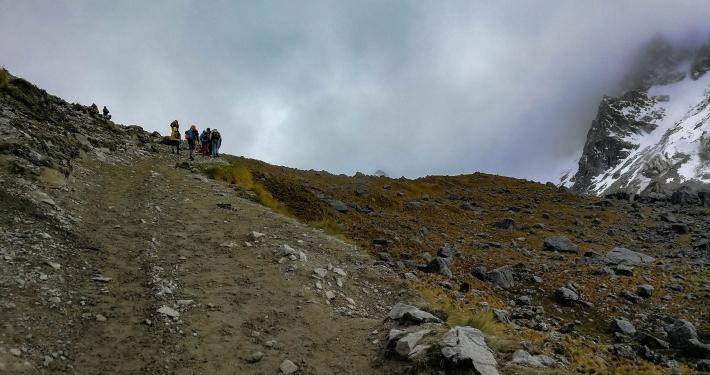 Salkantay Pass im Nebel