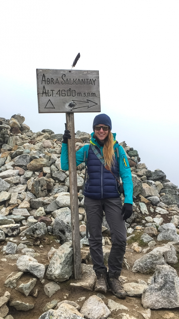 Am Salkantay Pass im Nebel
