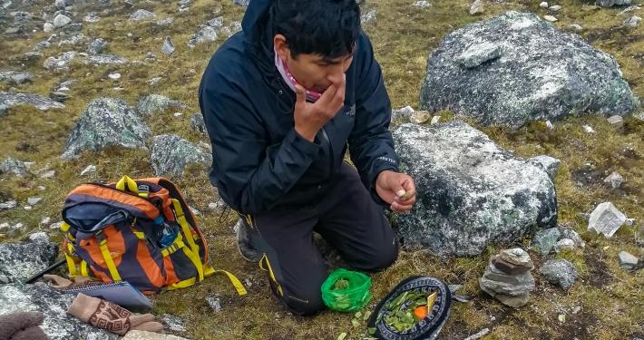 Inka-Ritual am Salkantay