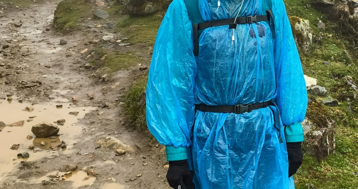 Abstieg vom Salkantay im Regen