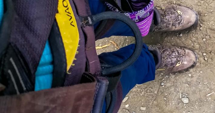 Equipment für die Vertikal Zipline Salkantay Trek