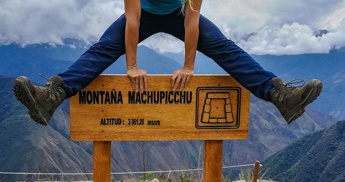 Auf dem Montaña Machu Picchu