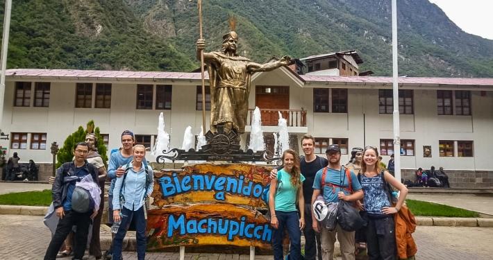 Unsere Reisegruppe in Aguas Calientes