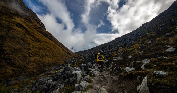 Steiler Pfad zum Salkantay Pass