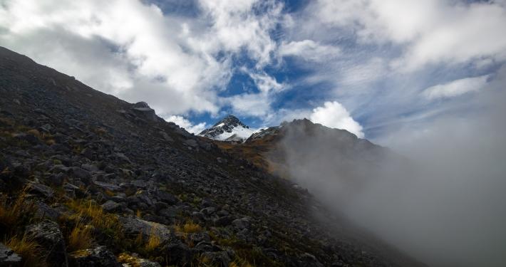 Nebel zieht auf am Salkatntay