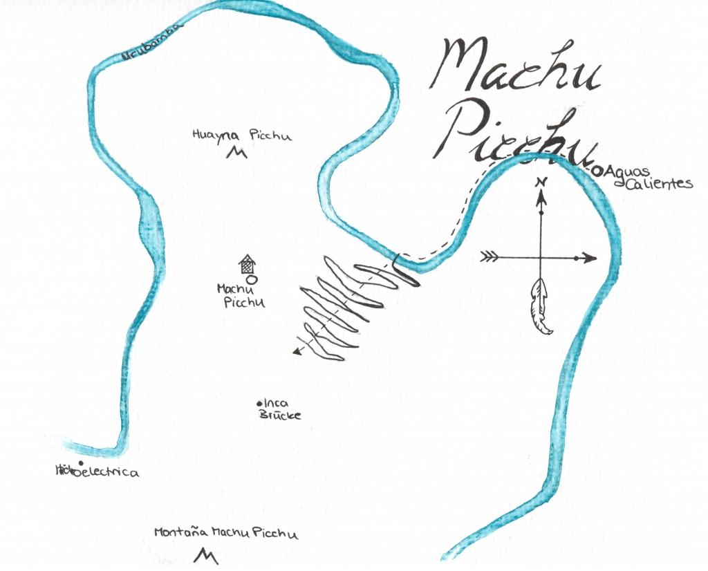 Karte Machu Picchu