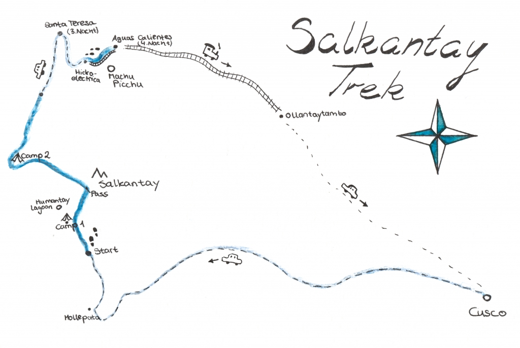Karte Salkantay Trek