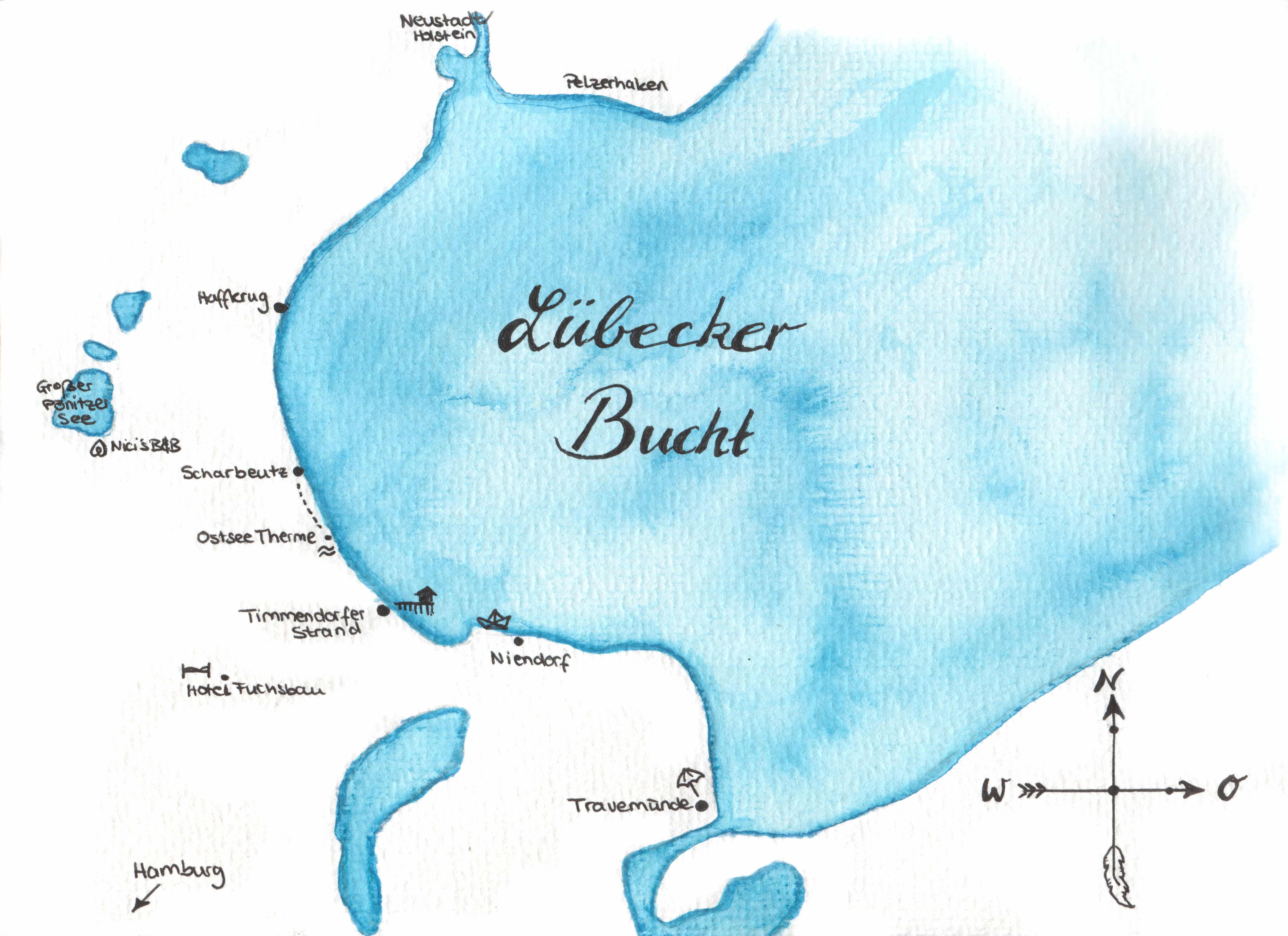 Karte von der Lübecker Bucht