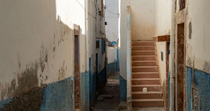 Blaue Gasse in Taghazout