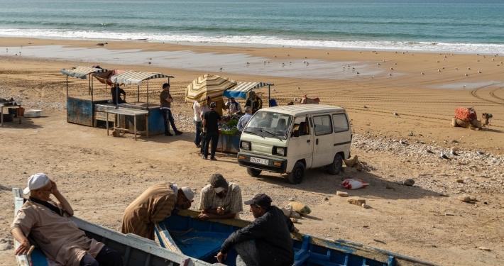 Fischverkäufer Taghazout