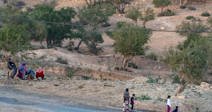 Bolzplatz und Müttertreff in Taghazout