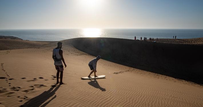 Sandsurfen auf der Taboga Sanddüne