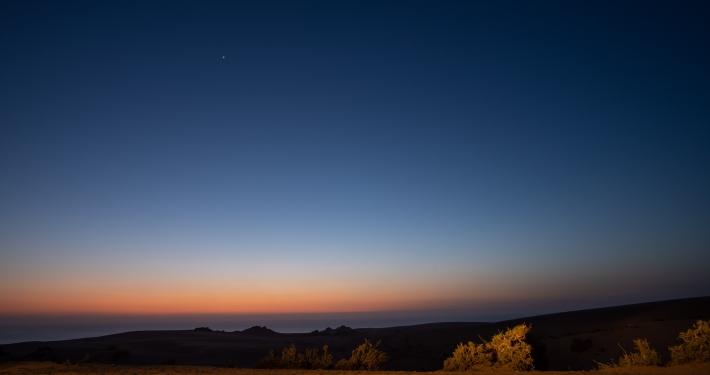 Sonnenuntergang an der Taboga Sanddüne